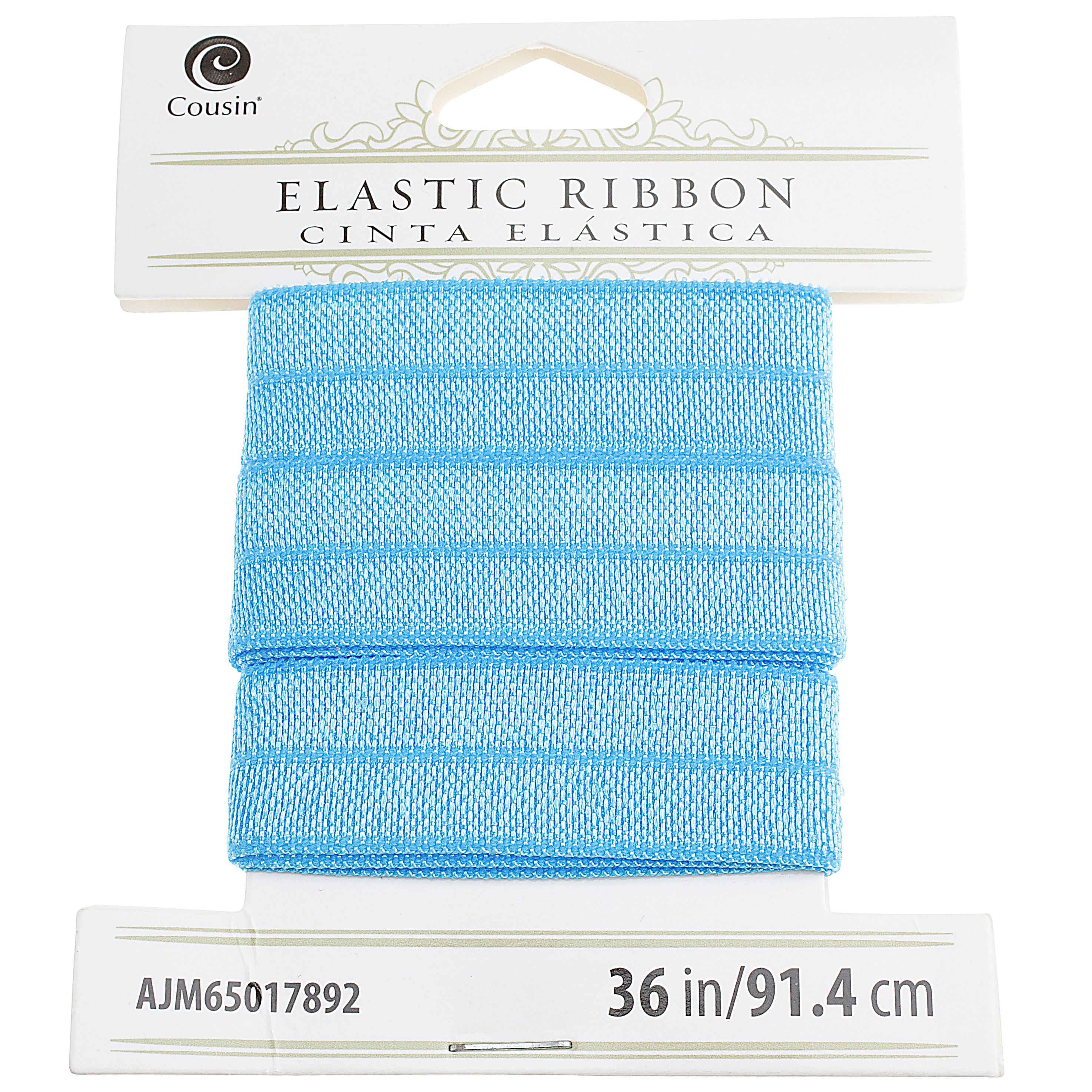 Cousin, Blue Elastic Ribbon, 36 inches