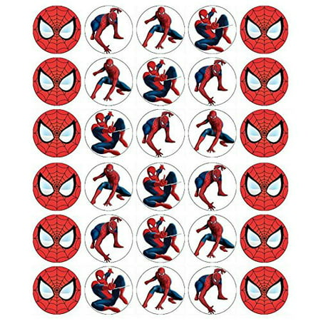 Spider cupcake Toppers Edible Wafer Paper BUY 2 GET 3RD FREE - Halloween Cupcakes Chocolate Frosting