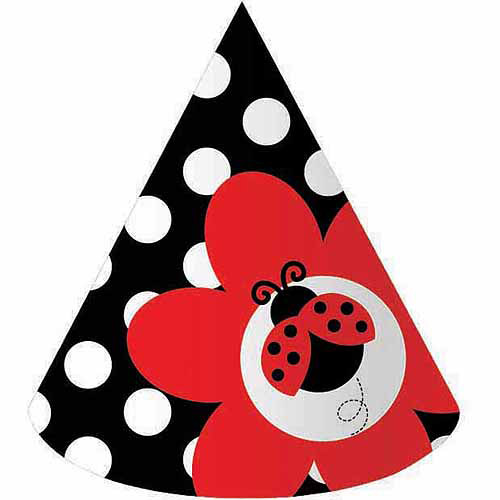 Creative Converting Ladybug Fancy Party Hats, 8pk