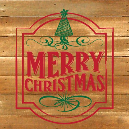- Artistic Reflections Merry Christmas Textual Art Plaque