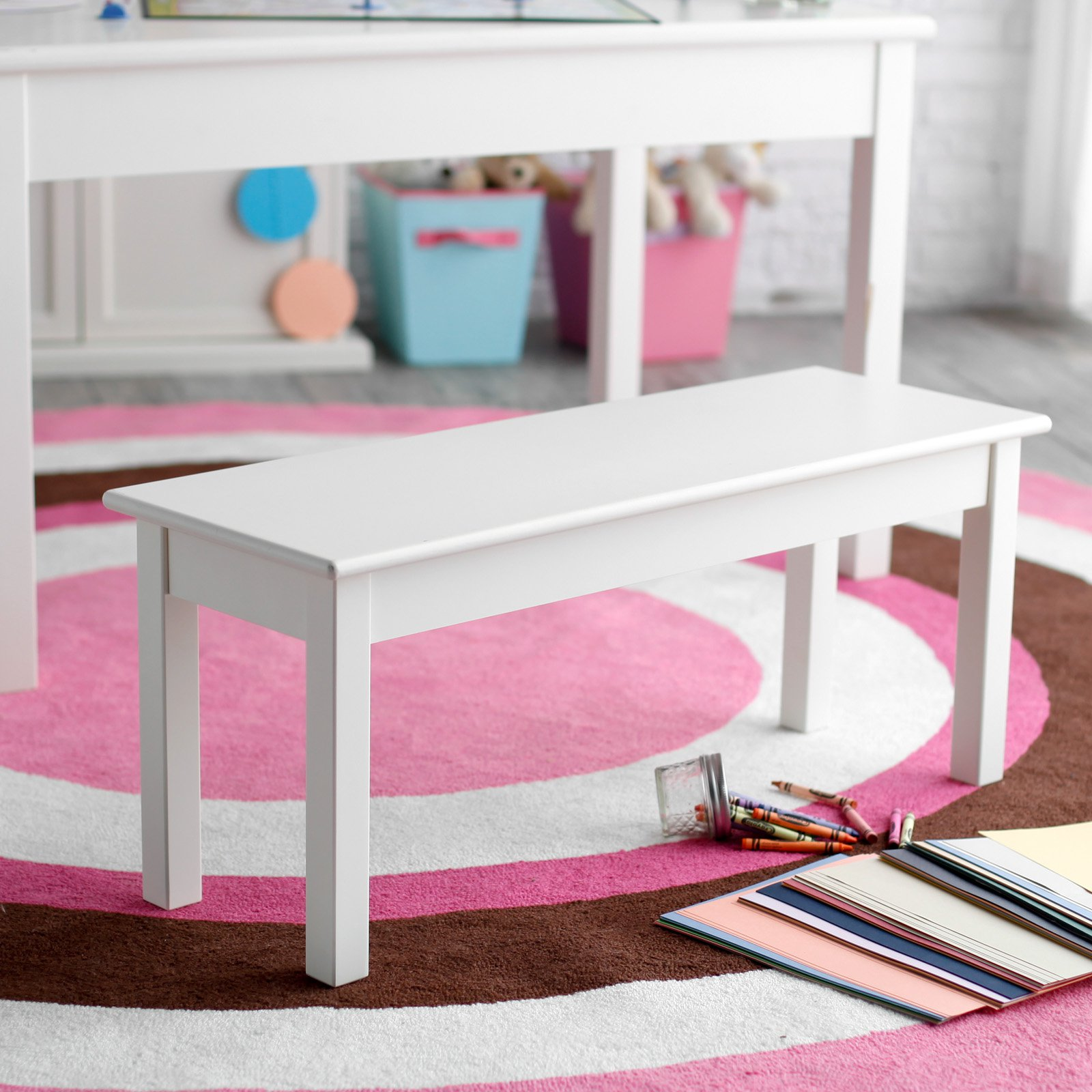 Classic Playtime Hopscotch Bench - Vanilla