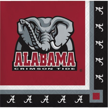 Creative Converting University Of Alabama Beverage Napkins, 20 - University Of Alabama Supply Store