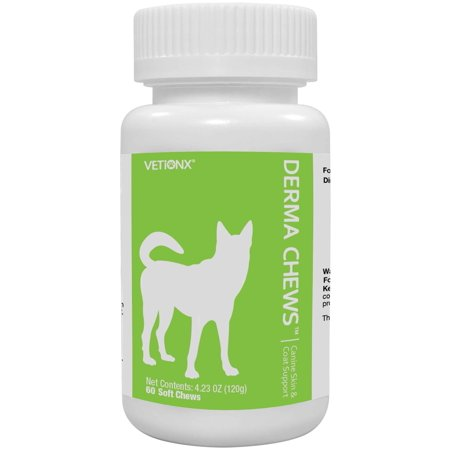 VETiONX Derma Chews for Dogs - Canine Skin & Coat Support
