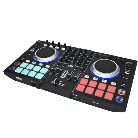 EMB URAI411 Controller 4 Channels DJ MIXER With Effects -2 Jog Wheels Scratching 2 Channel Scratch Mixer