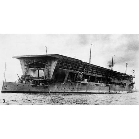 British Aircraft Carrier Nhms Furious A British Aircraft Carrier During World War I Rolled Canvas Art     18 X 24