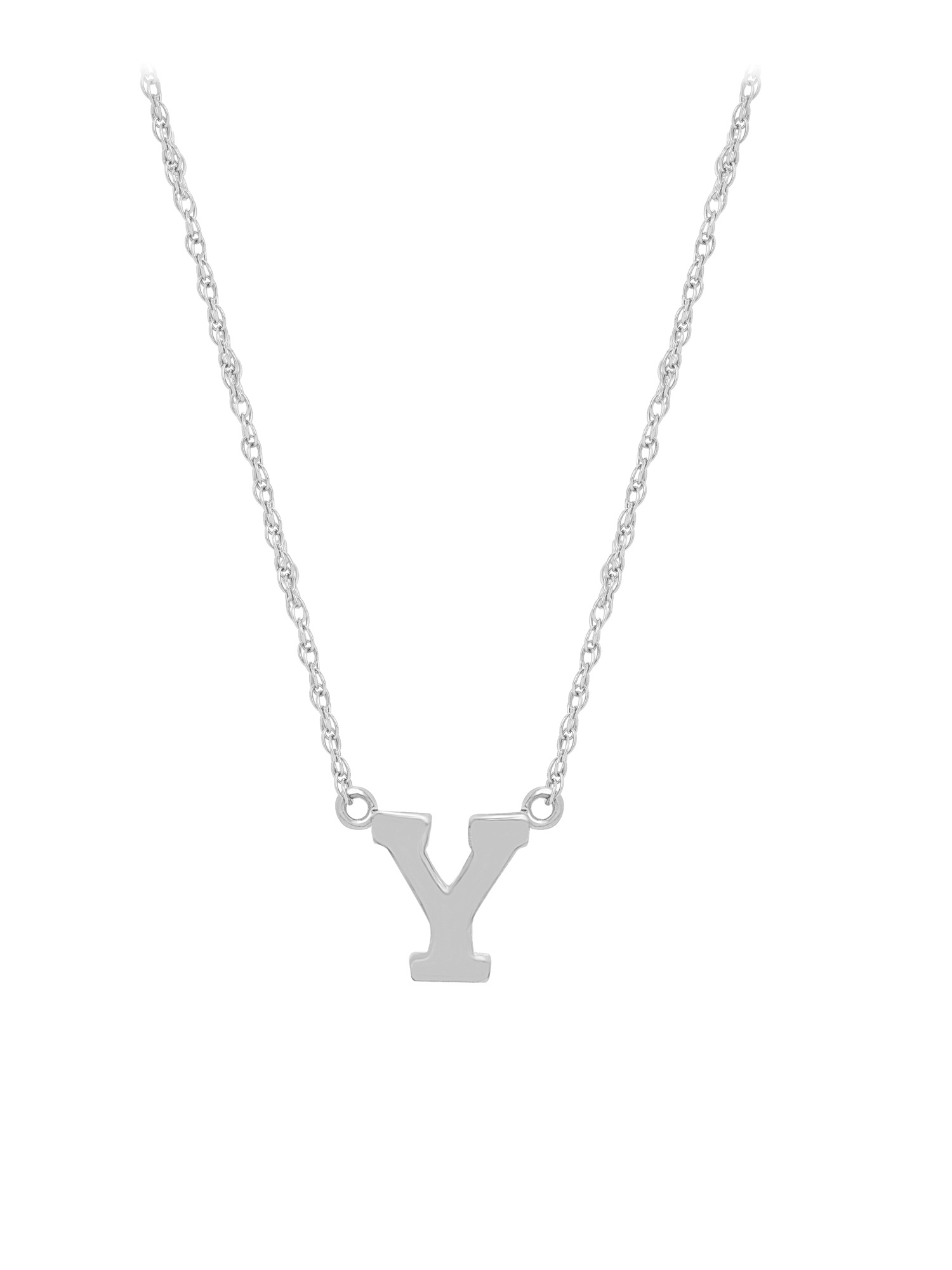Jewelry Pot Stainless Steel 14k Gold Plated 18in Rhodium-plated Three Stone Synthetic CZ Swirl Necklace