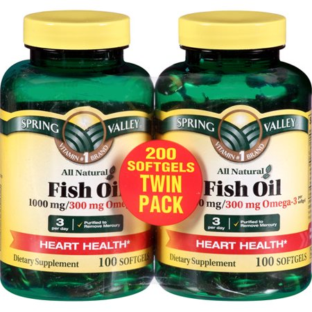 Spring valley fish flax borage oil 120ct for Fish flax borage oil
