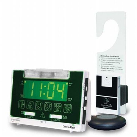 Harris Communications HC-CA360H Vibrating Alarm Clock & Receiver With Hanging Door Sensor