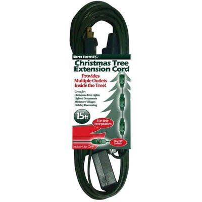Multiple Outlet Electrical Extension Cord For Christmas Tree Lights