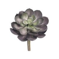 Allstate floral walmart product image artificial echeveria succulent pick in metallic grey green 575 wide mightylinksfo