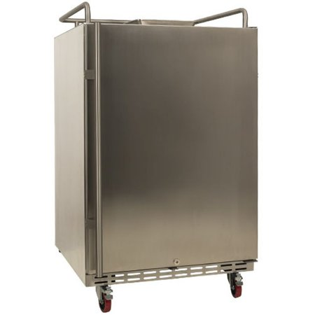 """EdgeStar BR7001OD Stainless Steel 24"""" Wide Outdoor Kegerator Conversion Refrigerator with Forced Air Refrigeration"""
