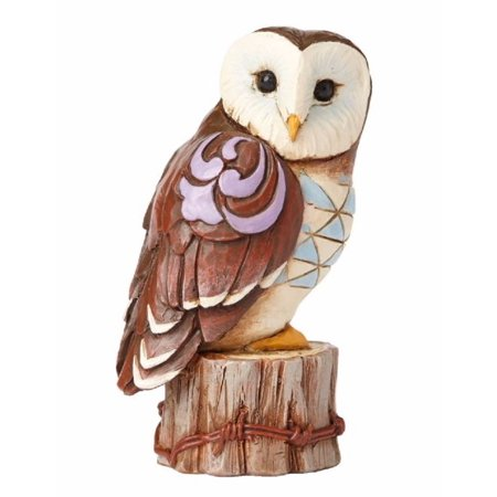 Jim Shore Heartwood Creek Miniature Barn Owl Figurine 4055064 New Bird - Miniature Owl