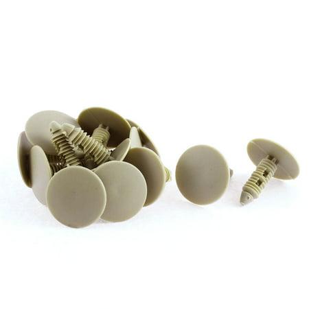Buick Door Seals - 15 Pcs Khaki Plastic Door Seal Nail Rivet Trim Mat Clip for Buick