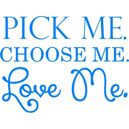 Greys Anatomy Wall Decor    Pick Me  Choose Me  Love Me    Bedroom Quote Decal   Sticker   20 X16   Ga1