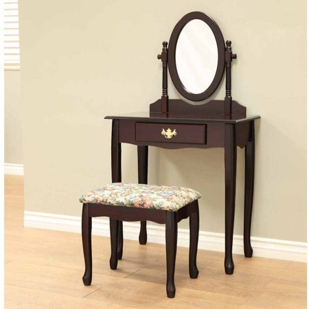 home craft traditional queen anne style 3 piece vanity set