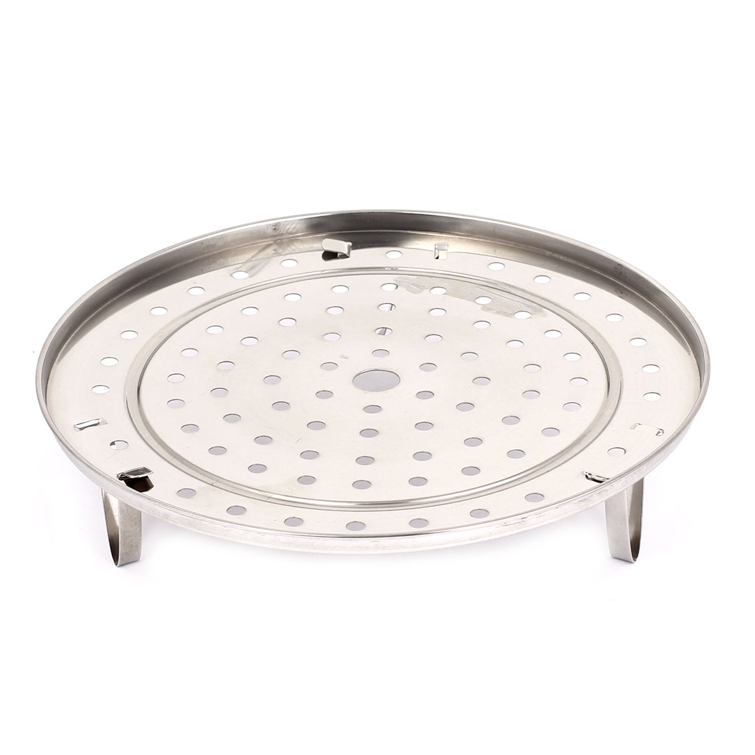 """Unique Bargains Kitchen Stainless Steel 3 Legs Steamer Rack Food Steaming Stand Cookware 10"""""""