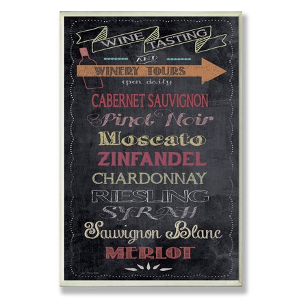 The Stupell Home Decor Collection Wine Tasting Typography Chalkboard Look Kitchen Wall Plaque