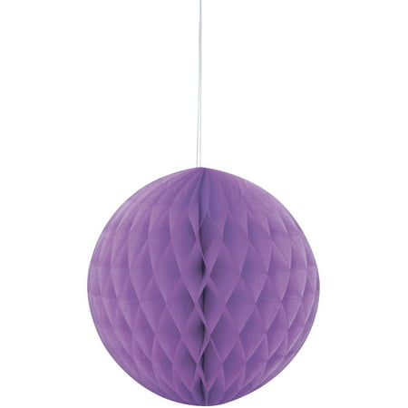 Tissue Paper Honeycomb Ball, 8 in, Purple, 1ct