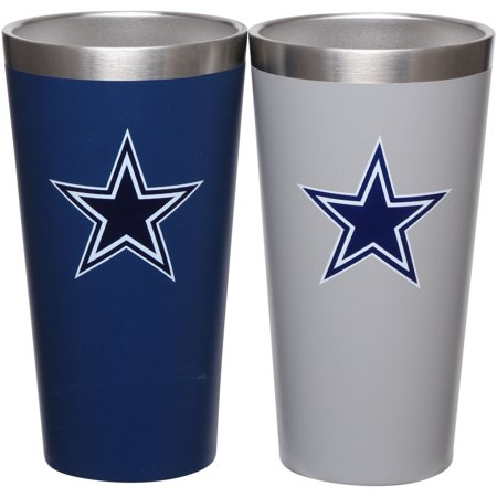 Dallas Cowboys Team Color 2-Pack Stainless Steel Pint Glass - No