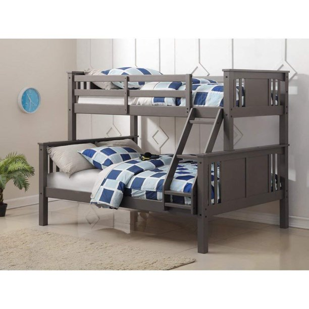 Donco Kids Princeton Wood Bunk Bed Twin-over-full, Slate Gray