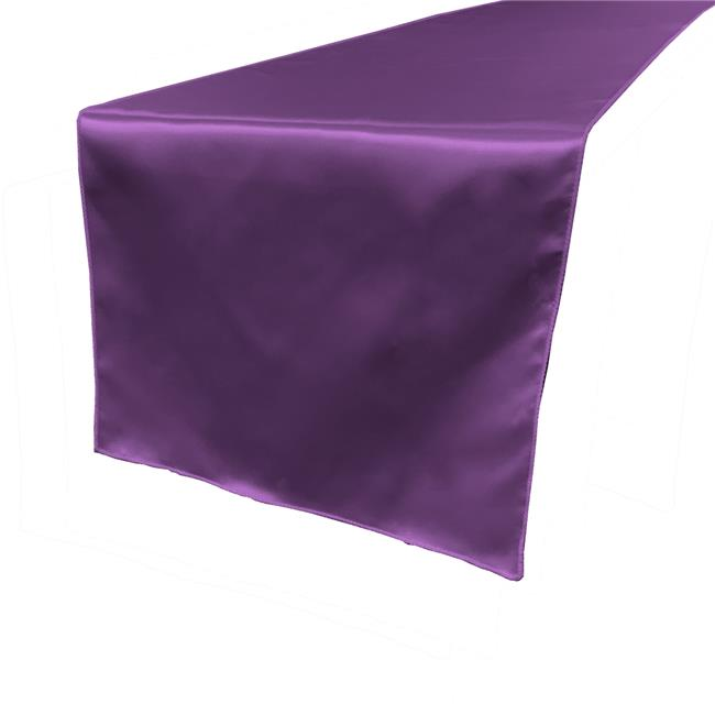 TCbridal14X108-PurpleB23 Bridal Satin Table Runner, Purple - 14 x 108 in. - image 1 of 1