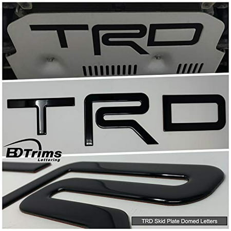 BDTrims | Domed Letters Inserts fits TRD Skid Plate for 4Runner 2015-2019 Models (Glossy Black)