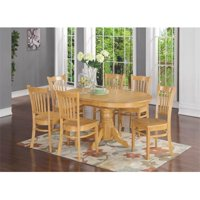 East West Furniture AVGR5-OAK-W 5 Piece Dining Table Set For 4-Table With Leaf and 4 Dining Chairs