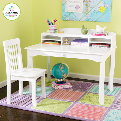 KidKraft Avalon Desk Set with Hutch and Chair, White by KidKraft
