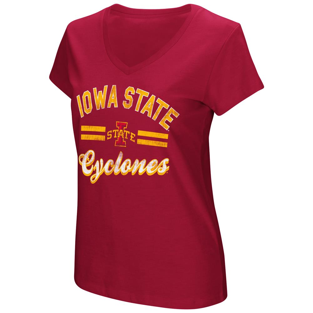 Women's Hurdle Short Sleeve Iowa State Cyclones Graphic Tee
