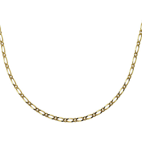 """18kt Gold over Sterling Silver Mini Figaro Chain, 20"""""""
