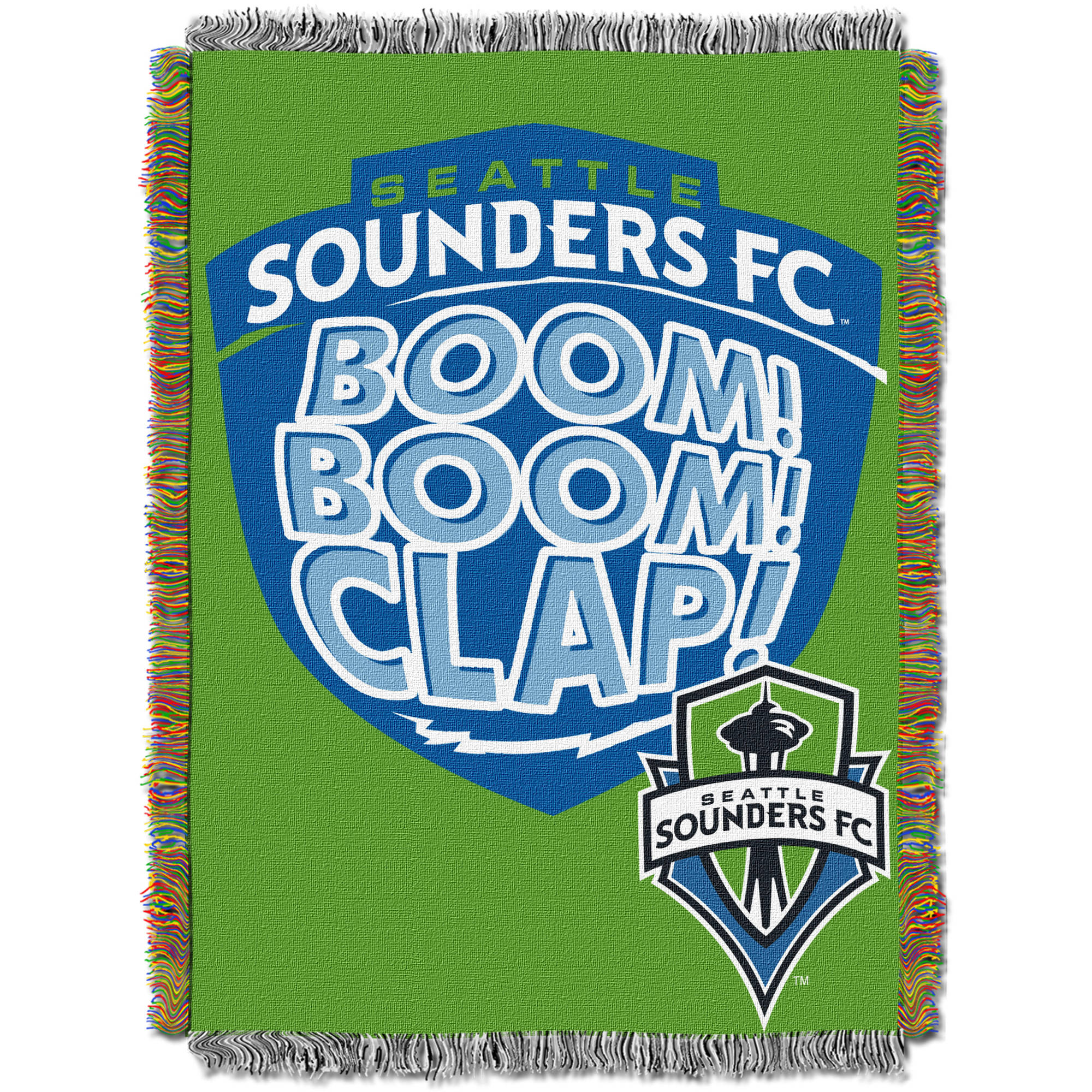"MLS Seattle Sounders Handmade 48"" x 60"" Woven Tapestry Throw"