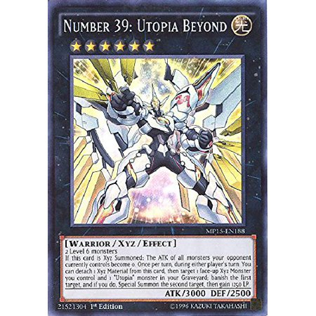 Yu-Gi-Oh! - Number 39: Utopia Beyond (MP15-EN188) - Mega Pack 2015 - 1st  Edition - Super Rare, A single individual card from the Yu-Gi-Oh!  trading  ,