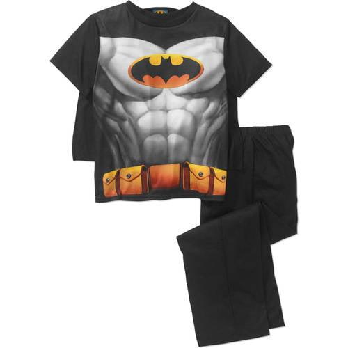 DC Comics Batman Boys' 2 Piece Sleepwear Set with Detachable Cape by DC COMICS