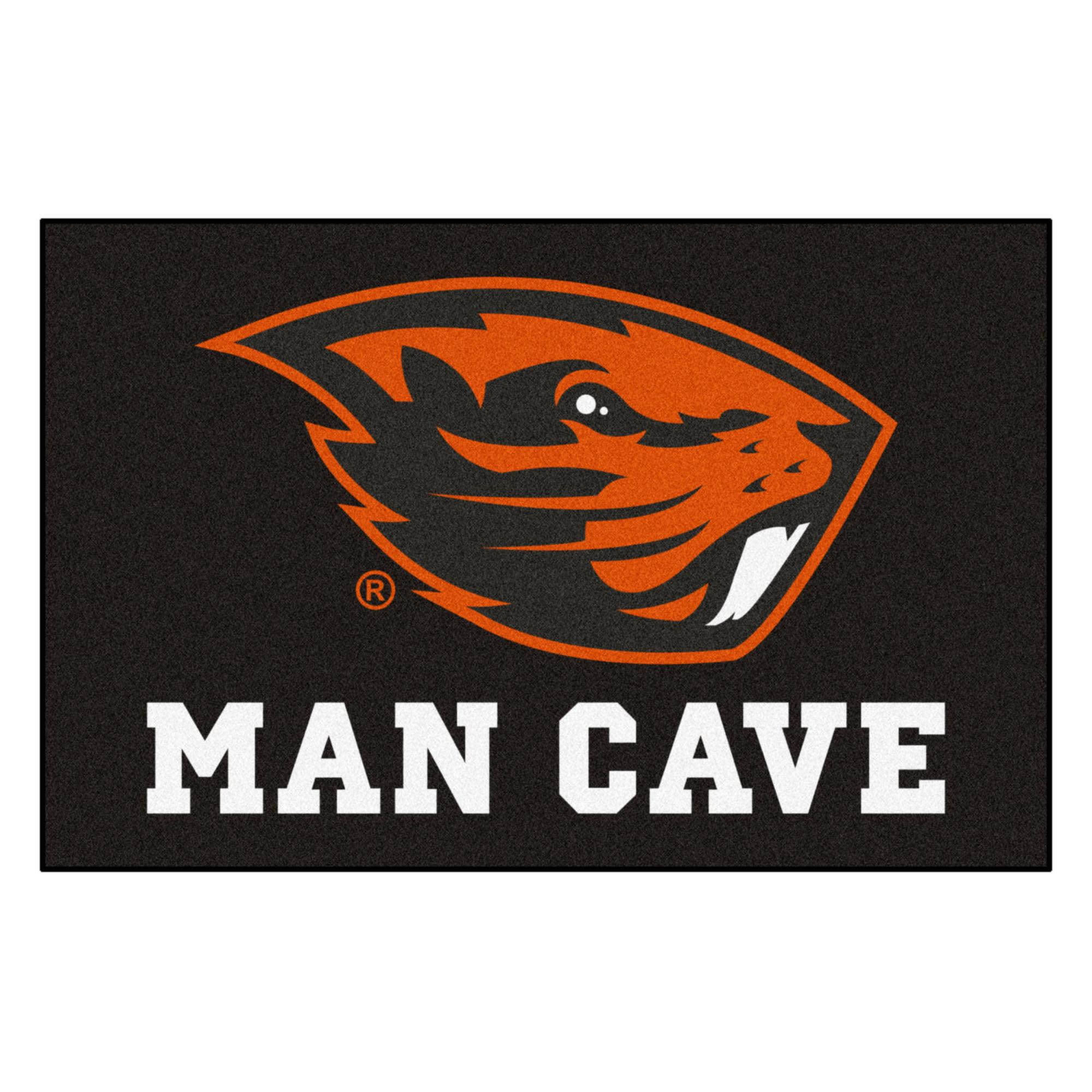 """Oregon State Man Cave Starter Rug 19""""x30"""""""