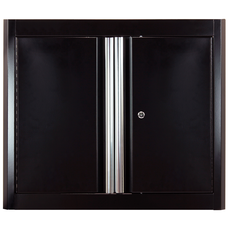 26 in. H x 30 in. W x 12 in. D Steel Garage Wall Cabinet in Black/Multi-Granite