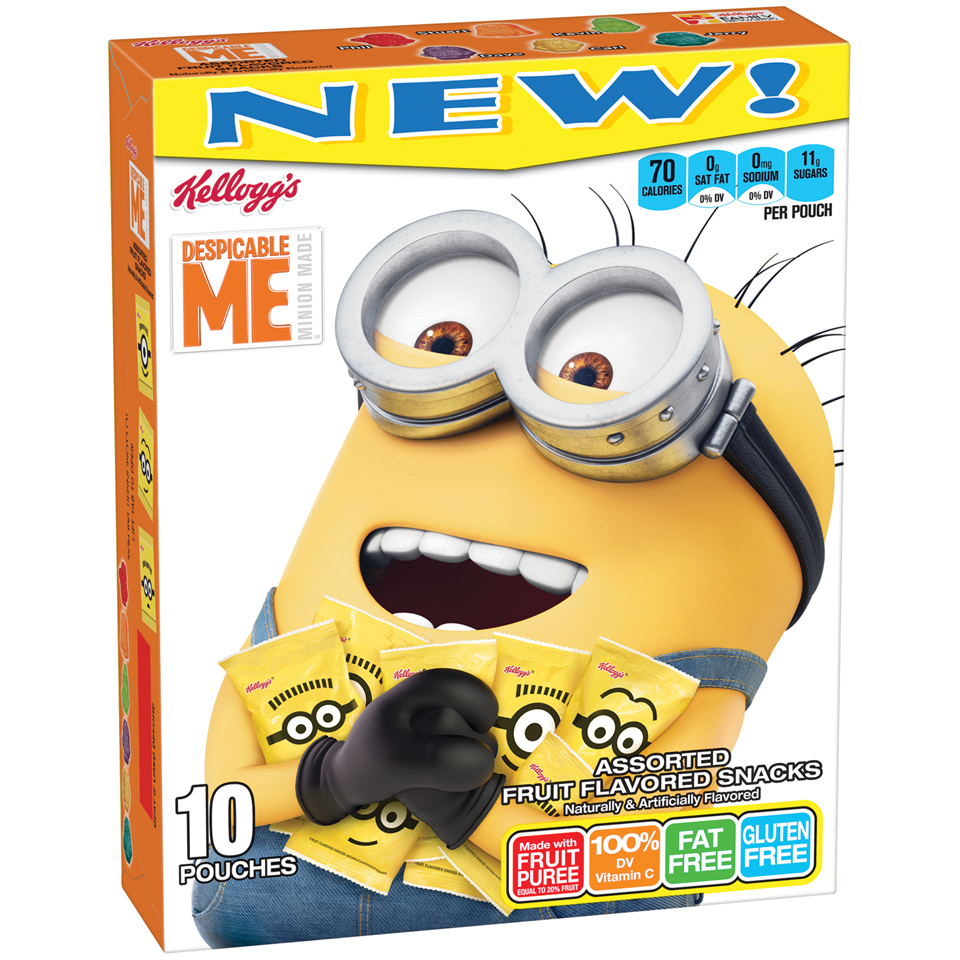 (4 Pack) Kellogg's Despicable Me 3 Fruit Snacks, Assorted, 10 Ct