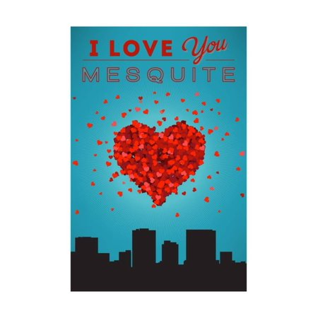 I Love You Mesquite Texas Print By Lantern Press