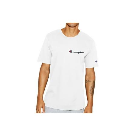 51f52a60 Champion - Champion Men's White Champion Life® Embroidered Script Logo T- Shirt, Large - Walmart.com