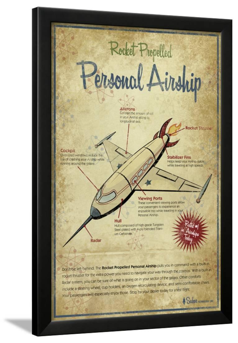 Airship Framed Print Wall Art By Michael Murdock