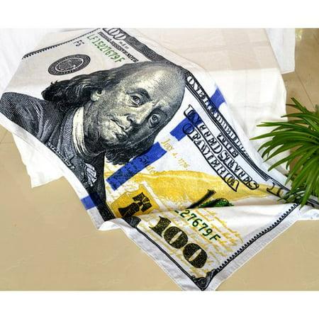 Jcp Hometex Inc  Enjoyful Summer Time  100 Dollar Bill Beach Towel