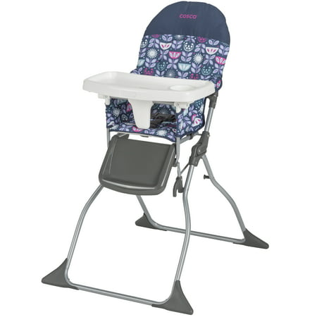 Cosco Simple Fold Lightweight & Compact High Chair, Poppy