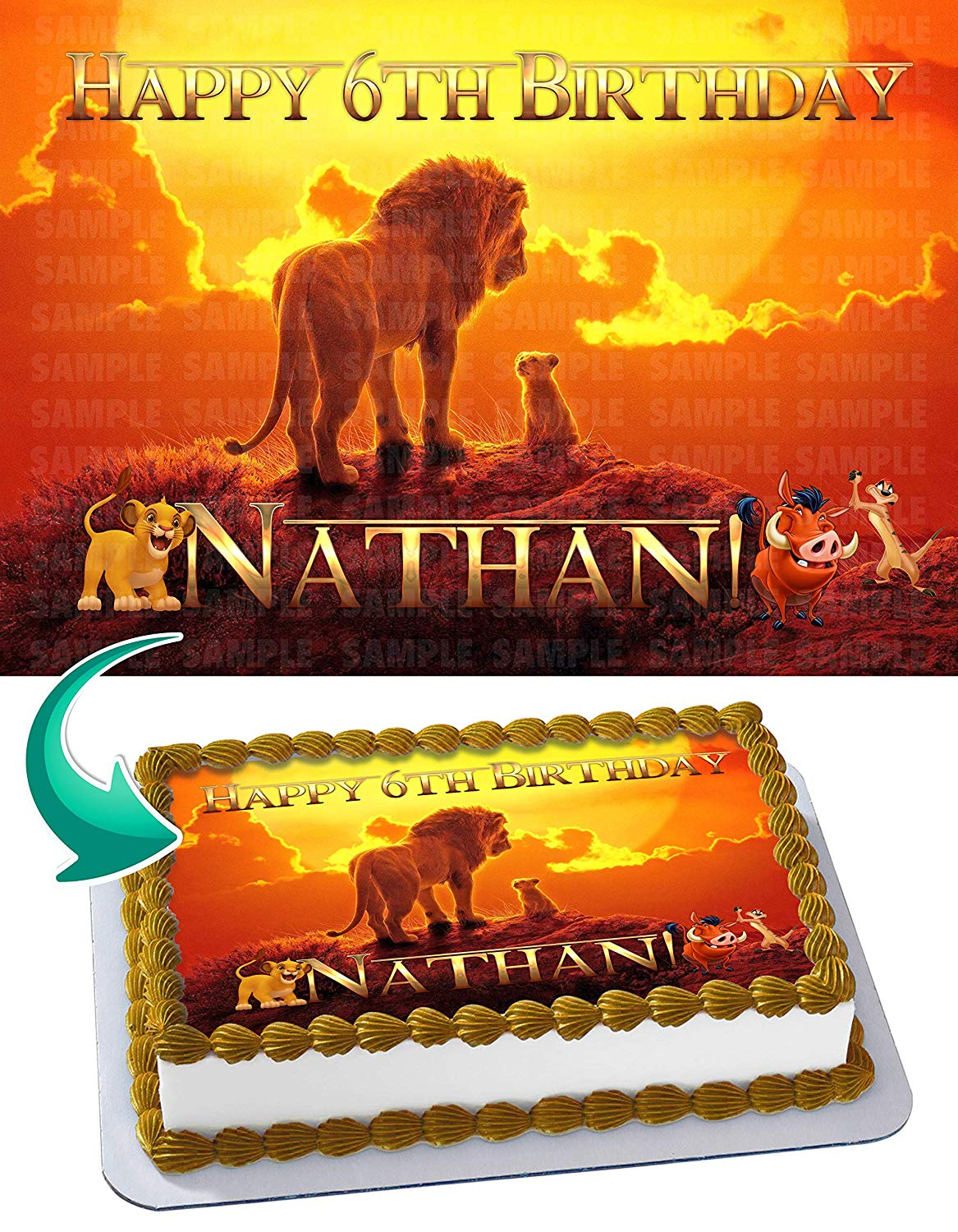 Amazing The Lion King 2019 Edible Cake Topper 11 7 X 17 5 Inches 1 2 Funny Birthday Cards Online Barepcheapnameinfo