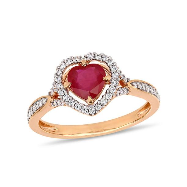Tangelo 1 Carat T.G.W. Ruby and 1/4 Carat T.W. Diamond...