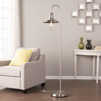 Southern Enterprises Panora Caged Bell Floor Lamp, Contemporary Style, Brushed nickel