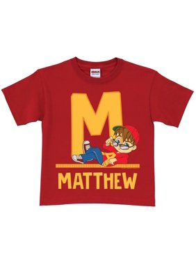 Personalized Alvin and the Chipmunks Toddler Initial T-Shirt, Red