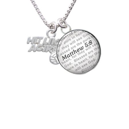 Delight Jewelry Hit Like A Girl With Enamel Volleyball Bible