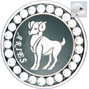 Bella Crystal Golf Ball Marker & Hat Clip - Zodiac Collection - Aries
