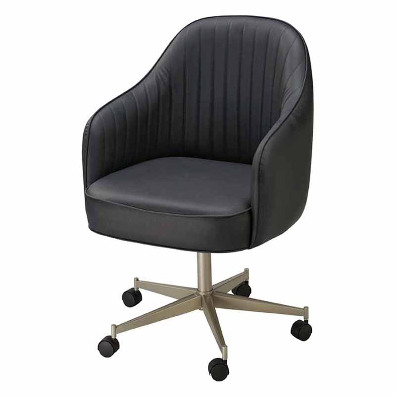 Regal Bucket Seat Large Dining Chair with Arms on Casters