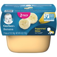 (8 Pack) Gerber 1st Foods Banana Baby Food, 2-2 oz. Tubs