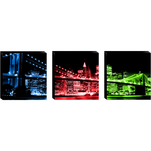 3Pc Brooklyn Bridge I Wall Artwork by
